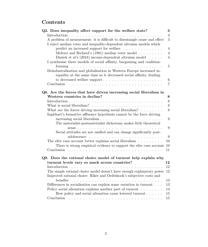 PolSoc table of contents